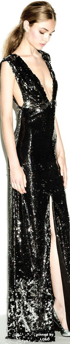 Perfect black sequin gown... Great for Galas, New Year's Eve, Black Tie Affairs!