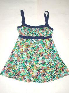 Rose Marie Reid 1 Pc Mosaic Floral Instant Minimizer Swimdress Swimsuit Woman 12 #RoseMarieReid #Swimdress