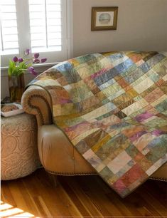 Peaceful colors, easy pattern.