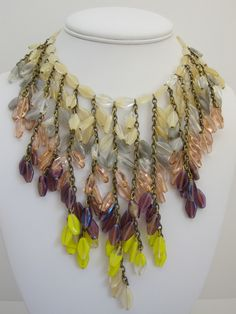 Stunning Miriam Haskell Fringe Necklace from gallery24jewelry on Ruby Lane