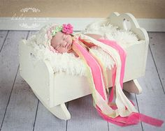 Newborn Bonnet - SPRING - knit baby bonnet by Knitbysarah, Stitches by Sarah $33.00  Image by Bebe Amour Photo by Leslie Lane;  http://www.bebeamourphoto.com