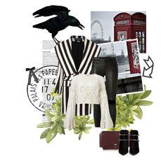 """black&white"" by carllla ❤ liked on Polyvore featuring Balmain, RtA, Miss Selfridge, Givenchy, Valentino, Avignon and Topshop"