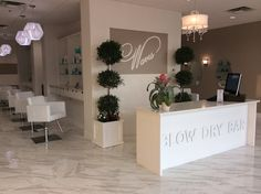 Waves Blow Dry Bar - Decoration For Home Nail Salon Design, Nail Salon Decor, Hair Salon Interior, Salon Interior Design, Home Salon, Beauty Bar Salon, Beauty Salon Design, Salon And Spa, Makeup Salon