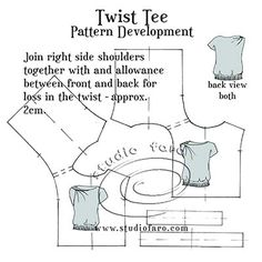 """Can't make it to #Coolamon?  You can try this one at home! """"Pattern Insights - Twist Tee"""" #SelfDraft #wellsuitedblog"""