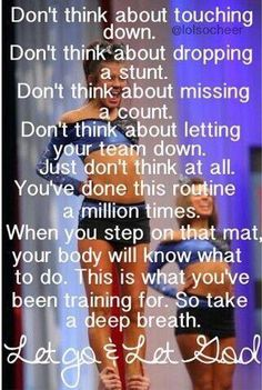 Inspirational Cheer Competition Quotes by Pricilla Tremblay During the stages associated with cheerleading the Cheer Coaches, Cheer Stunts, Cheer Dance, Team Cheer, Cheer Jumps, Varsity Cheer, Cheer Qoutes, Cheer Sayings, Funny Cheer Quotes