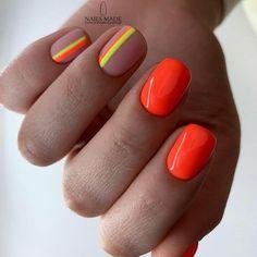 Dream Nails, Love Nails, Pretty Nails, Colorful Nail Designs, Colorful Nails, Summer Nail Designs, Nail Polish Designs, Nails Design, Salon Design