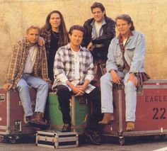 The Eagles . . .( Joe Walsh, Timothy B. Schmit, Don Henley, Glenn Frey and Don Felder )