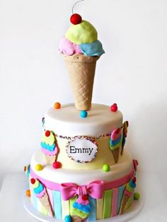 Ice CreamThemed Cake