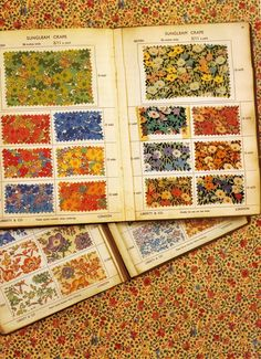 Liberty of London sample textile pattern book