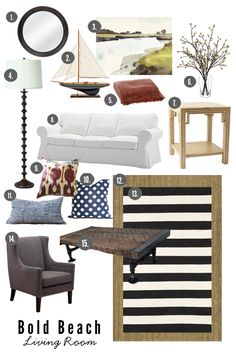 6th Street Design School | Kirsten Krason Interiors : Look for Less: Lake-house Living with sources