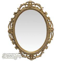 Nostalgisch jugendstil spiegeltje met twee kaarsenhouders uitgevoerd in zwaar gietijzer een - Barok spiegel voor badkamers ...