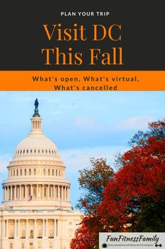 Find out which Washington D.C. Fall Events are still on, cancelled, or virtual. Plus, what DC sites are open and which ones have COVID-19 closures. #dc #washingtondc #fallevents #falltravel