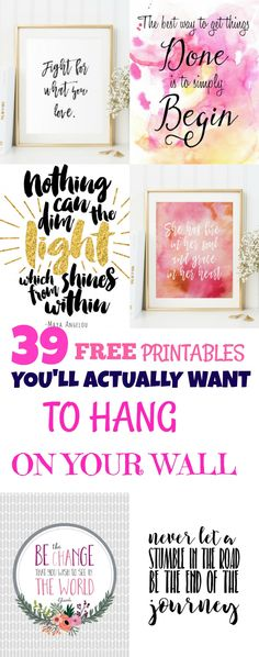 Free #girlboss Printables for your wall!