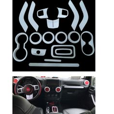 White Interior Decoration Trim Complete Kit Accessories for Jeep Wrangler for sale online Jeep Wrangler Interior, Jeep Wrangler For Sale, Decorating With Pictures, Decorating Blogs, Interior Decorating, Jeep Wrangler Accessories, Jeep Accessories, Used Toyota Tacoma, Jeep Wranger