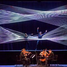 Architect Gabriel Calatrava son of Santiago Calatrava has designed a rope installation for a performance of Johann Sebastian Bach's chamber music for the 92Y cultural center in New York. Read the full story on dezeen.com/USA #design #USA #installations by dezeen