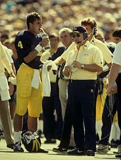 Bo Schembechler and Jim Harbaugh 1986