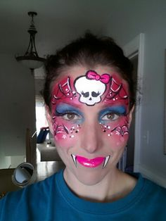 Monster high face paint ultra girlie!