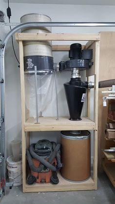 Got a single stage dust collector? Change it into a two stage cyclone beast of a collector. Check out the article and video to see how I did my harbor freight dust collector mod! Garage Workshop Organization, Workshop Storage, Woodworking Workshop, Woodworking Projects, Diy Projects, Shop Dust Collection, Dust Collector, Wood Tools, Wood Dust