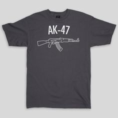 AK-47 T-Shirt in Charcoal