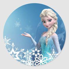 Shop Frozen Elsa Birthday Classic Round Sticker created by frozen. Elsa Birthday Cake, Frozen Birthday Invitations, Disney Frozen Birthday, Disney Princess Frozen, Frozen Cupcake Toppers, Frozen Cake Topper, Frozen Images, Frozen Pictures, Elsa Frozen
