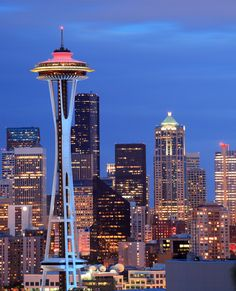 Space Needle, Seattle, #USA. Check out: The All #American West Coast Road Trip Planned! #DIY  #travel