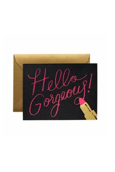 Greeting Card- Hello Gorgeous Card