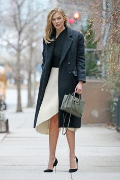 Loving these shoes + the asymetrical skirt