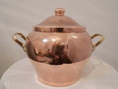 Vintage French Copper Pan. French Vintage by AngelFrenchAntiques