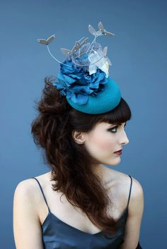 Holly Young Hats Boutique » 'Nemora' Floral Cocktail Hat. #passion4hats