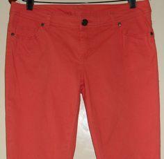 girlexpress skinny leg jeans size 14 salmon EUC