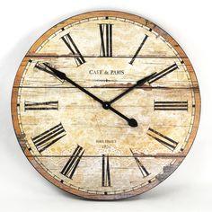 """Zentique 32"""" Wooden Clock"""