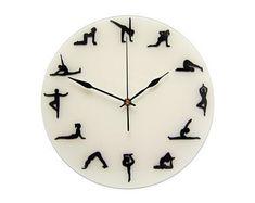 Yoga Wall Clock, Gift for Yoga Teacher, Yoga Lover Gift, Yoga Studio Decor Yoga Studio Interior, Yoga Studio Design, Yoga Studio Decor, Silver Wall Decor, Blue Wall Decor, Silver Walls, Gifts For Dog Owners, Gifts For Pet Lovers, Gift For Lover