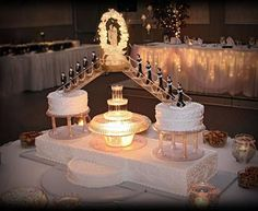 Stairway to heaven wedding cake!