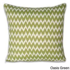 Thro Ian Ikat Faux Linen 20-inch Decorative Pillow   Overstock.com