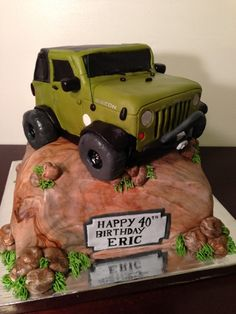 Awesome Jeep cake Vehicles Pinterest Jeep cake Jeeps and Cake