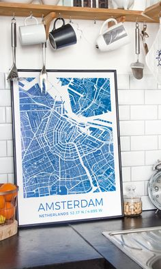 A map print is like a reminder of your favorite place and times…create one with GrafoMap!//