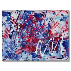 Patriotic Fireworks Postcards