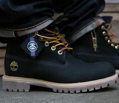 "Stussy x Timberland 6 Inch Boot ""Black"""