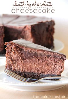 Death by Chocolate Cheesecake - OMG Chocolate Desserts