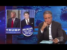 Jon Stewart Basks in the Awesomeness of Donald Trump's Crazy Media Blitz - YouTube