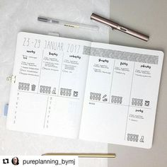 #Repost @pureplanning_bymj with @repostapp ・・・ My layout for the next week. It's all about my master thesis because I want to finish the main part of writing . What's your big task for the upcoming week? Let me know…