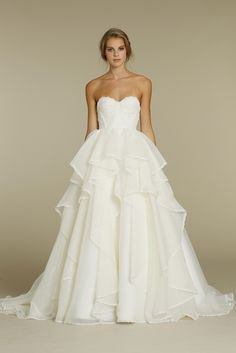 Haley Paige Wedding Dress...love this even though it is much more poofy then I would usually go for.