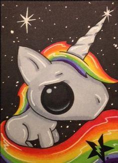 Sugar Fueled Rainbow Unicorn Pony lowbrow pop by Sugarfueledart