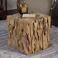 Bare Decor Hourglass Stump End Table | Overstock.com Shopping - The Best Deals on Coffee, Sofa & End Tables
