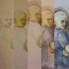 Поэтапный малыш  #drawing #illustration #watercolor #portrait #sketch #pencil #sketchbook #art #artwork #painting #topcreator #eskiz #портрет #рисунок #карандаш #набросок #эскиз #акварель