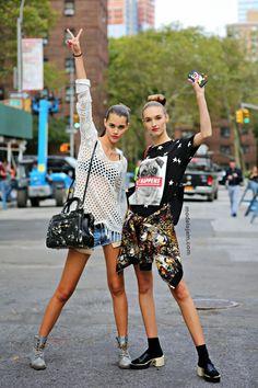 Pauline Hoarau and Manuela Frey, New York, September 2014