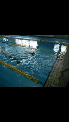 I just finished swimming