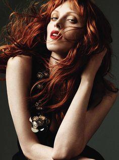 Karen Elson for Harper's Bazaar UK October 2010 by Alexi Lubomirski