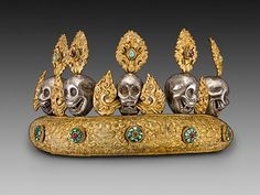 Vanishing Beauty: Asian Jewelry and Ritual Objects from  the Barbara and David Kipper Collection | The Art Institute of Chicago-Oracle Diadem, 19th century. Tibet. Promised gift of Barbara and David Kipper