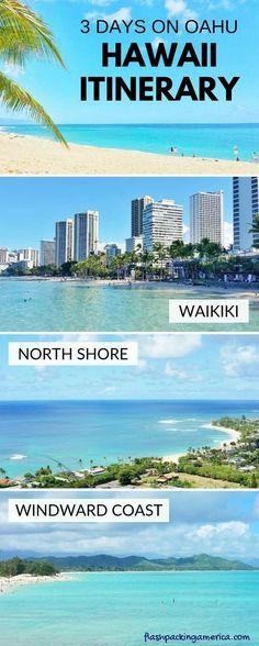 Hawaii itinerary 3 days on Oahu - Travel Hawaii vacation ideas on Oahu, Honolulu. Hawaii Honeymoon, Hawaii Vacation, Oahu Hawaii, Hawaii Travel, Beach Trip, Beach Travel, Vacation Ideas, Honolulu Hawaii, Hawaii Life